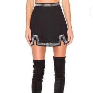NBD x Revolve black embellished mini skirt Xs